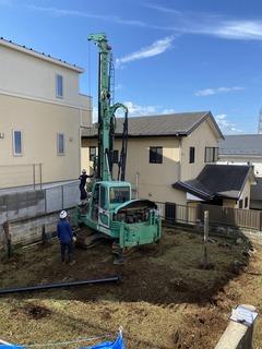 宮前の家Ⅱ、地盤改良工事完了!