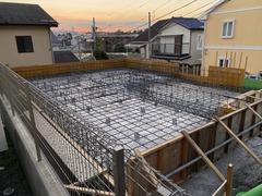 宮前の家Ⅱ、基礎工事進行中!