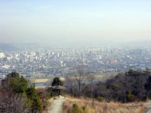 明王台団地展望台からの福山市街 私個人の撮影